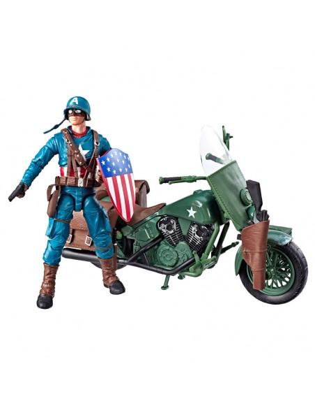 Set figura y vehiculo Capitan America Marvel Legends
