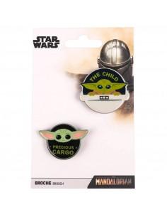 Set 2 broches Yoda Child The Mandalorian Star Wars