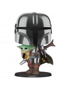 Figura POP Star Wars Mandalorian Mandalorian with Yoda Child 25cm