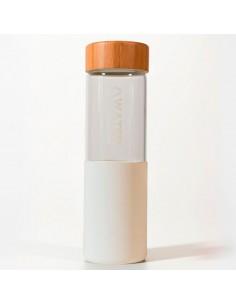 Botella Blanco Vidrio Silicona Water Revolution 660ml