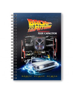 Cuaderno A5 Powered by Flux Capacitor Regreso al Futuro