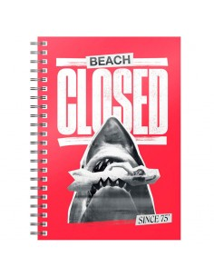 Cuaderno A5 Beach Closed Jaws 1975