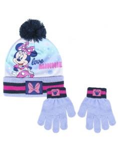 Conjunto gorro guantes Minnie Disney