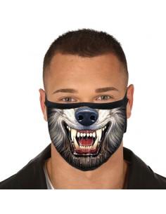 Mascarilla reutilizable 3 capas Wolf