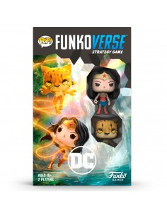 Juego mesa POP Funkoverse DC Comics Wonder Woman 2fig Ingles
