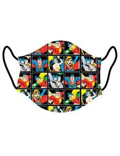 Mascarilla reutilizable DC Comics infantil