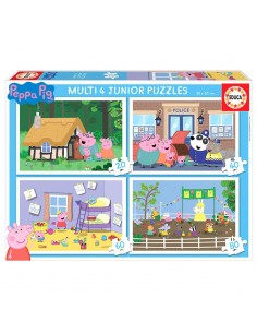 Puzzle multi 4 Junior Peppa Pig 20 40 60 80pz