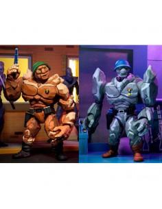 Pack 2 figuras Traag y Granitor Tortugas Ninja 18cm
