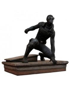 Estatua Spiderman Traje Negro Spiderman Marvel 18cm