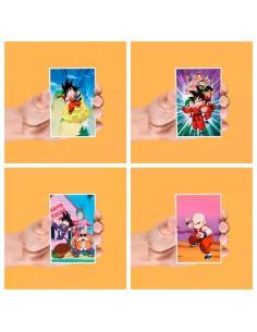 Set 4 imanes lenticulares Dragon Ball surtido