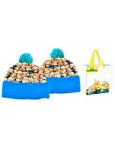 Gorro pompon bolsa Minions
