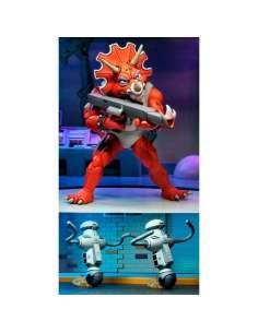 Pack 3 figuras Triceraton Infantryman y Roadkill Rodney Tortugas Ninja 18cm