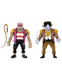 Pack 2 figuras Pirate Rocksteady y Bebop Tortugas Ninja Turtles in Time 18cm