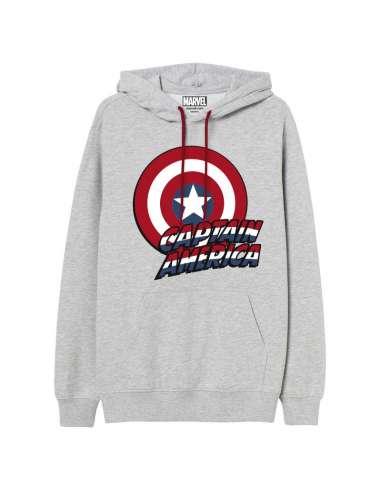 Sudadera capucha Capitan America Marvel adulto