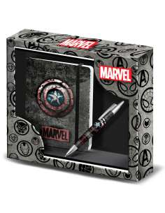 Set diario boligrafo Capitan America Marvel