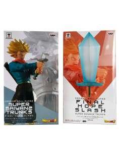 Pack 2 figuras Super Saiyan 2 Trunks Blade of Hope Final Hope Slash Dragon Ball Super 24cm