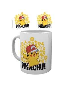 Taza Pokemon Ash Hat Pikachu