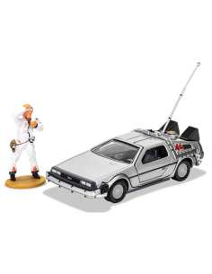 Set DeLorean figura Doc Brown Regreso al Futuro