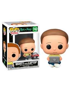 Figura POP Rick and Morty Morty with Laptop Exclusive