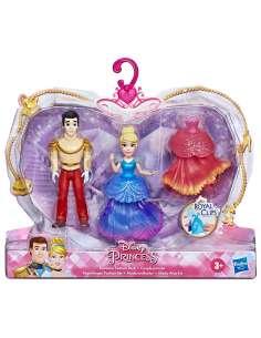 Set 2 figuras Royal Clips Cenicienta Princesas Disney 9cm