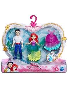 Set 2 figuras Royal Clips La Sirenita Princesas Disney 9cm