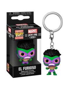 Llavero Pocket POP Marvel Luchadores Hulk El Furioso