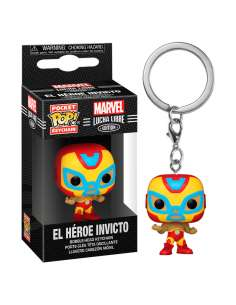 Llavero Pocket POP Marvel Luchadores Iron Man El Heroe Invicto