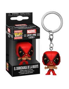 Llavero Pocket POP Marvel Luchadores Deadpool La Chimiganga de la Muerte