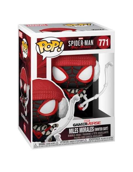 Figura POP Marvel Spiderman Miles Morales Winter Suit