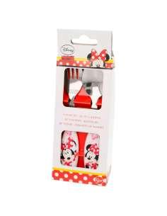 Set cubiertos metalicos Minnie Disney