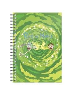 Cuaderno A5 Logo Portal Rick and Morty