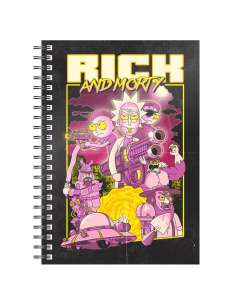 Cuaderno A5 Retro Poster Rick and Morty