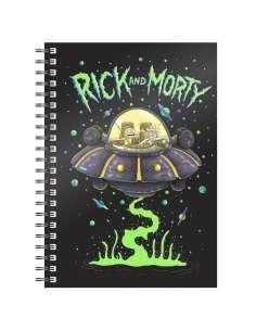 Cuaderno A5 Space Ship Rick and Morty