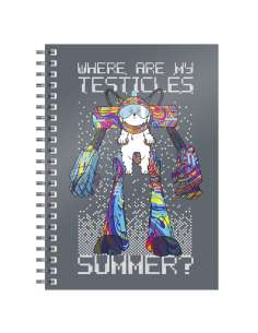 Cuaderno A5 Where Are My Testicles Rick and Morty