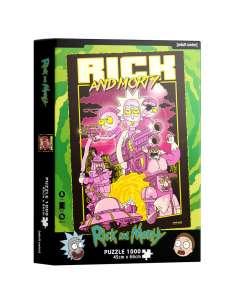 Puzzle Retro Poster Rick and Morty 1000pzs