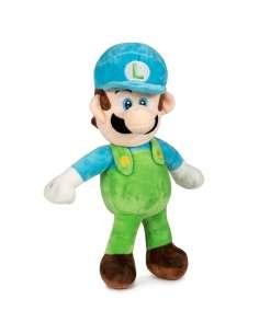 Peluche Luigi Azul Super Mario Bros soft 35cm