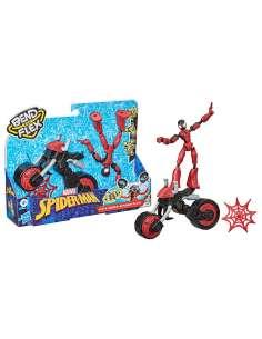 Figura Bend and Flex Rider Spiderman Marvel 15cm