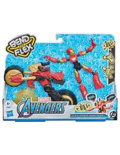 Figura Bend and Flex Rider Iron Man Marvel 15cm