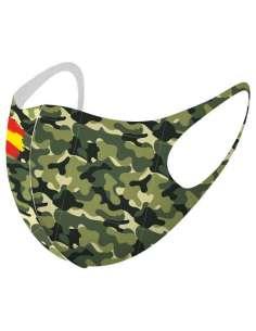 Mascarilla reutilizable Camuflaje Bandera L