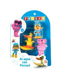 Pack 3 figuras Bano Pocoyo