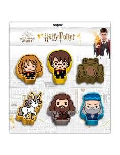 Set 6 gomas borrar Wizard Harry Potter