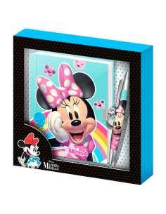 Diario boligrafo Rainbow Minnie Disney