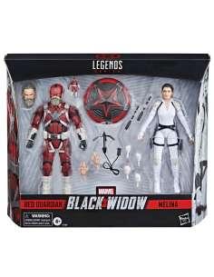 Set 2 figuras Red Guardian y Melina Black Widow Marvel 15cm