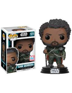 Figura POP Star Wars Rogue One Saw Gerrera with Hair 2017 Fall Convention Exclusive