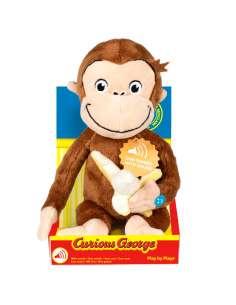 Peluche Curious George Banana soft con sonido 23cm