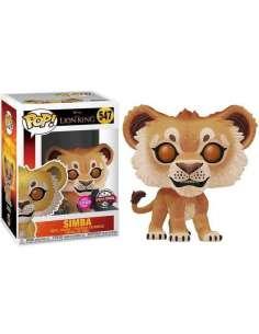 Figura POP Disney El Rey Leon Simba Flocked Exclusive