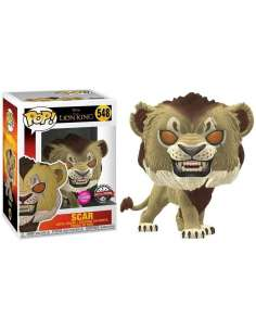 Figura POP Disney El Rey Leon Scar Flocked Exclusive