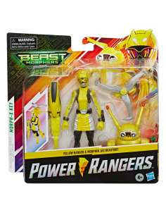 Set 2 figuras Yellow Ranger and Morphin Jax Beastbot Power Rangers 15cm