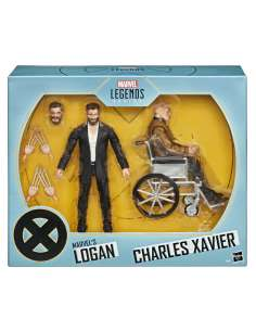 Set 2 figuras Logan y Charles Xavier X Men Marvel Legends Series 15cm