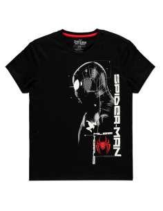Camiseta Silhouette Miles Morales Spiderman Marvel